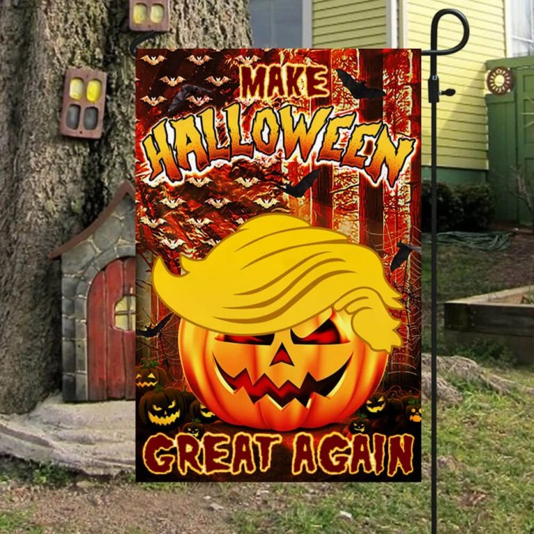 Make halloween great again Trump flag - Picture 3