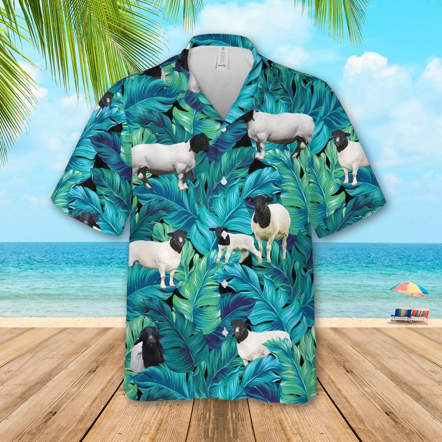 Men Brahman Cattle Lovers Hawaiian Shirt And Shorts