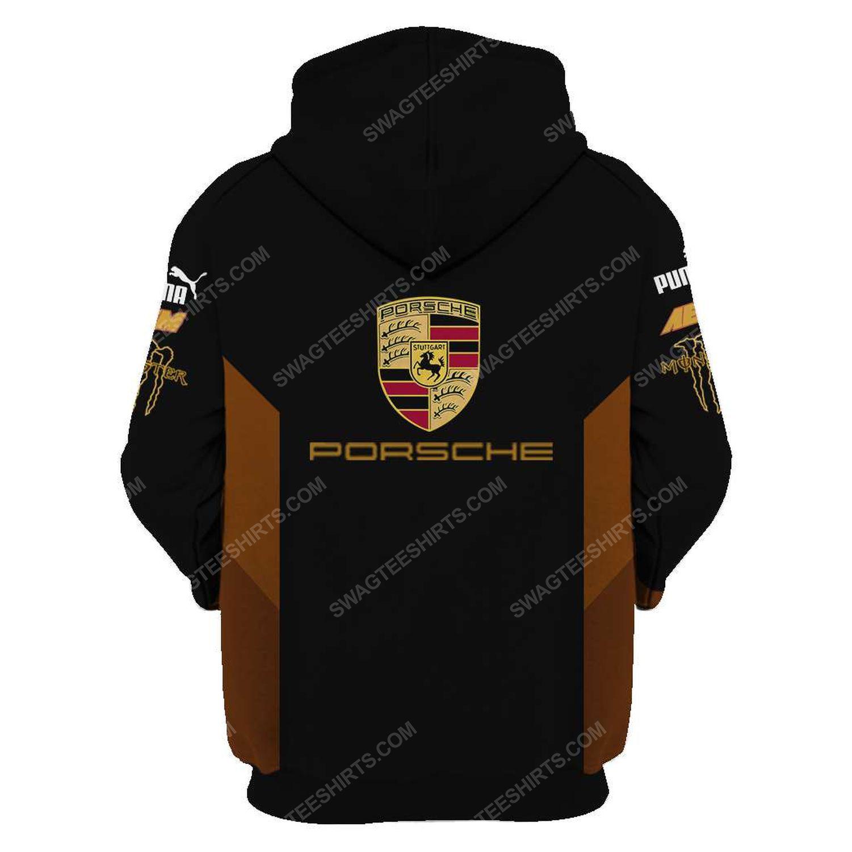 Porsche monster energy racing team motorsport full printing hoodie - back