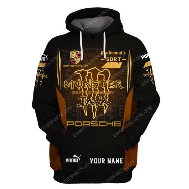 Porsche monster energy racing team motorsport full printing shirt 1