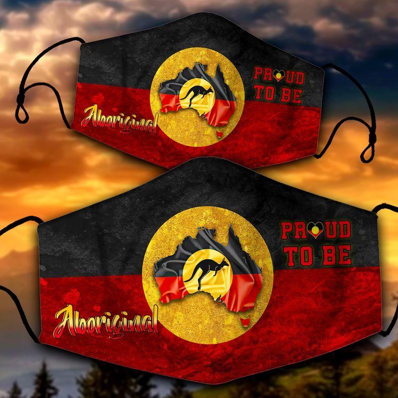 Proud to be aboriginal Australia face mask