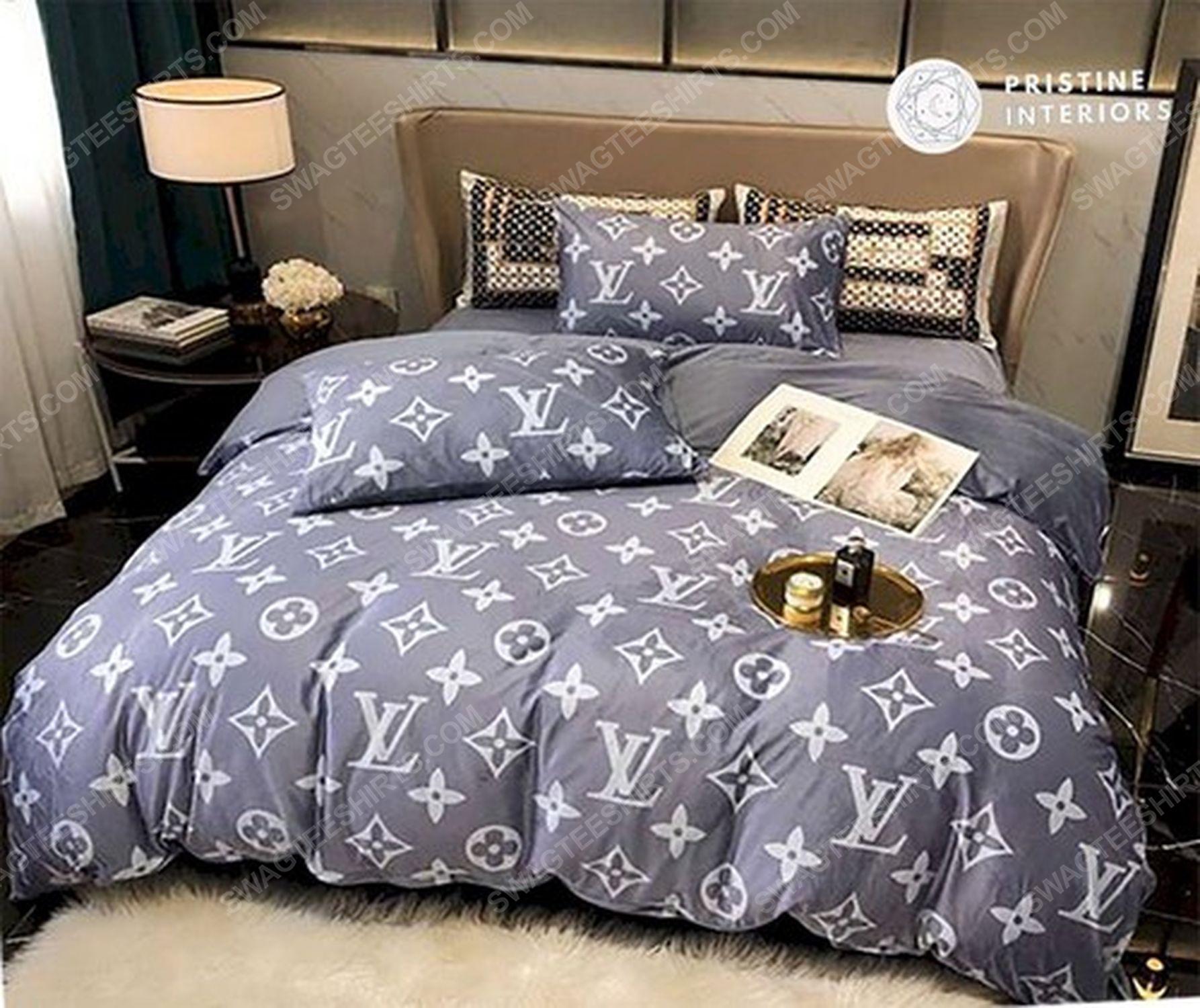 Lv monogram full print duvet cover bedding set