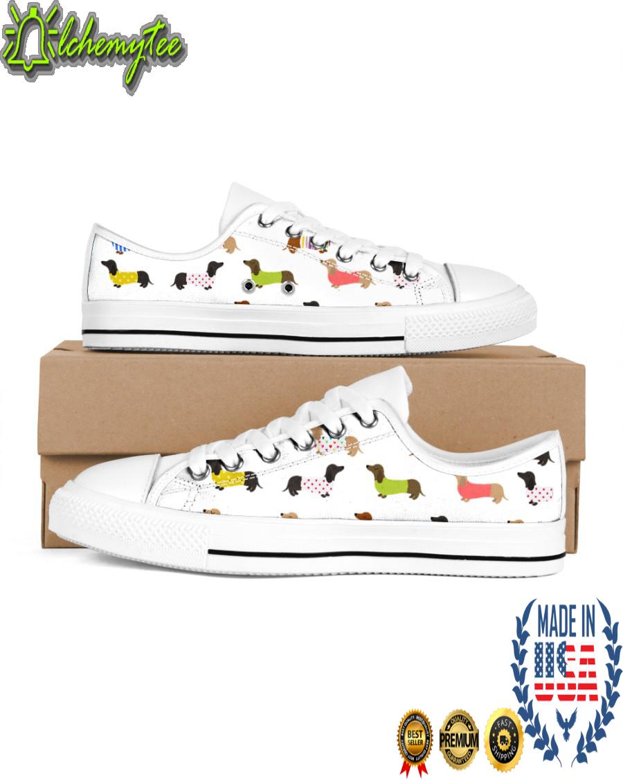 Dachshund wiener sneakers low top shoes