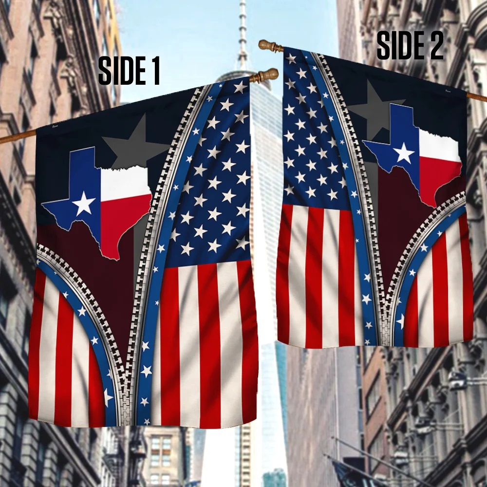 Texas Flag State Of Mind zipper