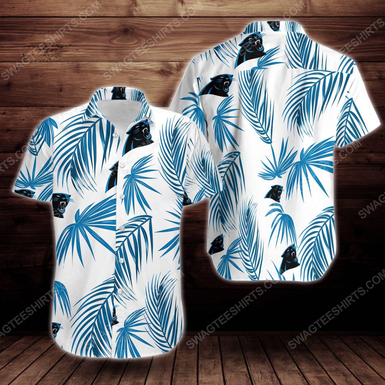 Tropical carolina panthers short sleeve hawaiian shirt