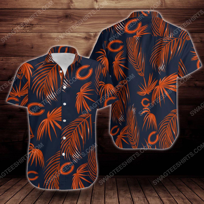 Tropical chicago bears short sleeve hawaiian shirt
