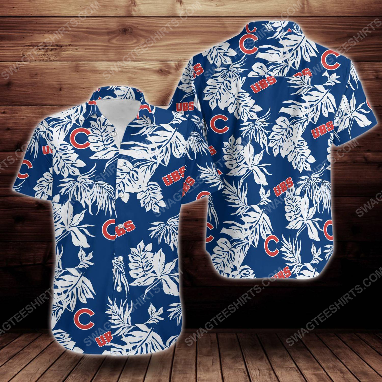 Tropical chicago cubs short sleeve hawaiian shirt