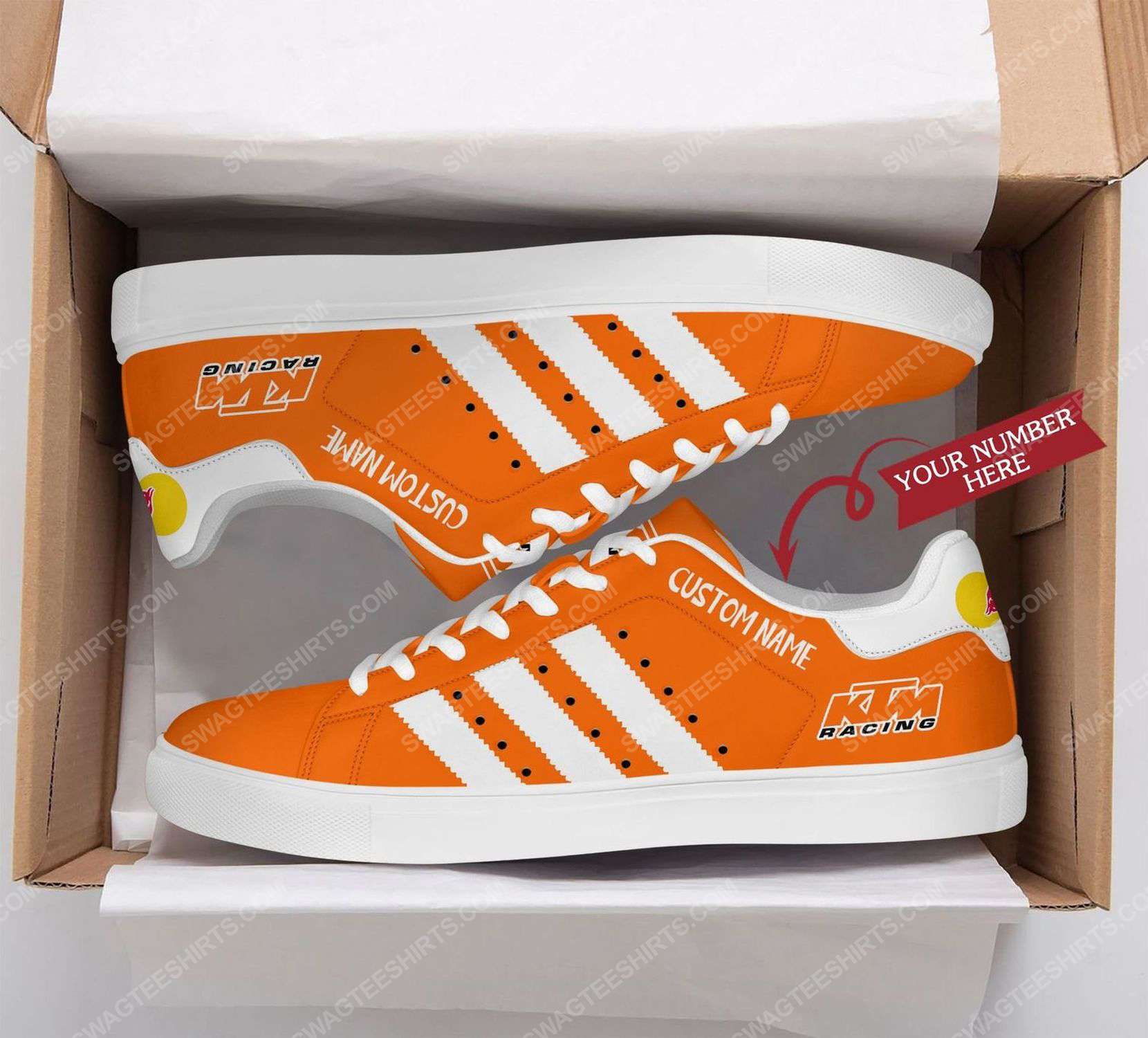 Custom red bull ktm factory racing stan smith shoes