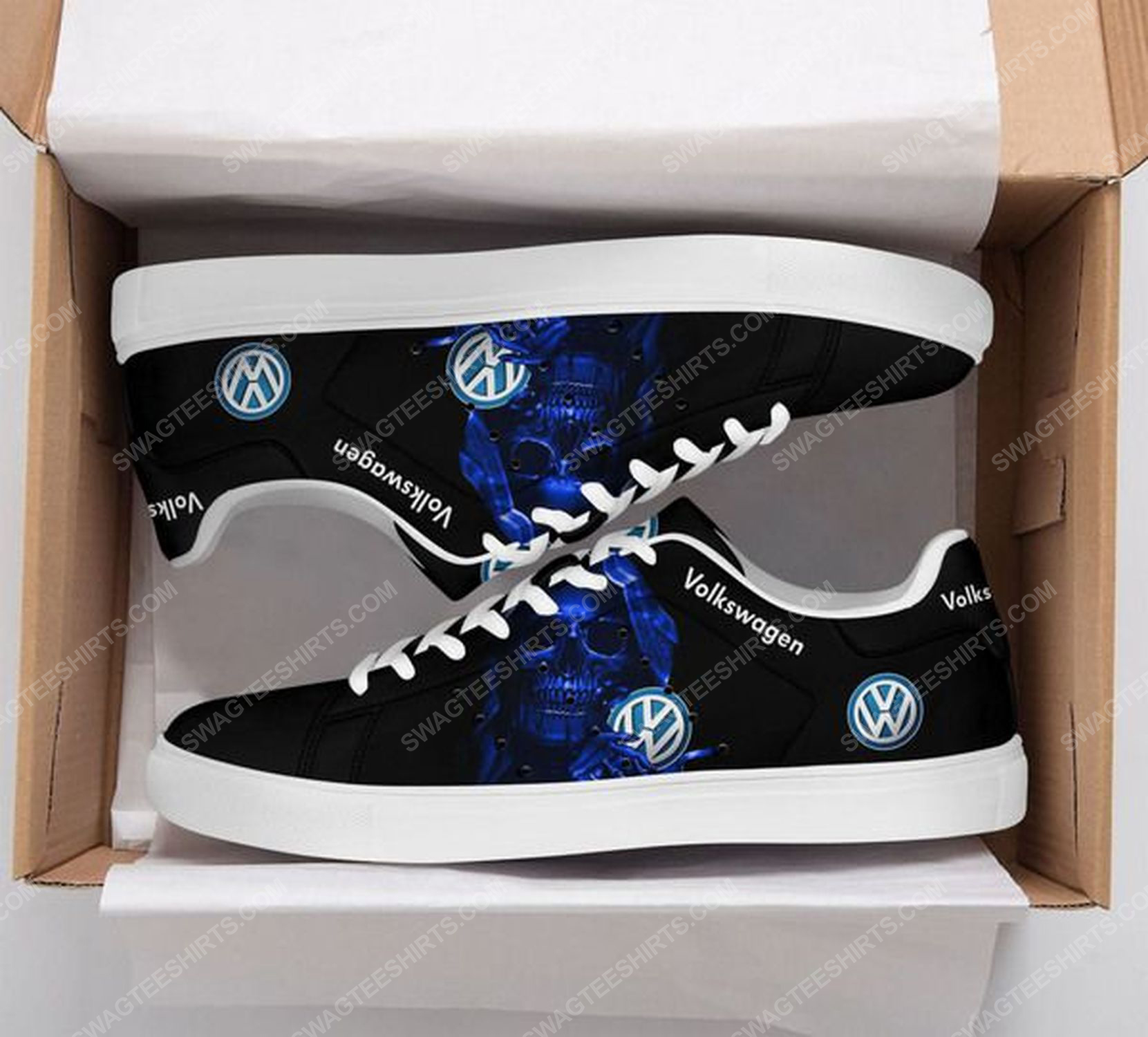 The skull with volkswagen logo stan smith shoes