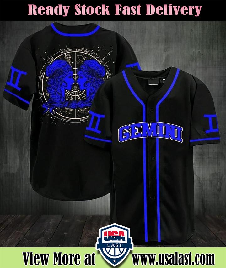 Gemini Zodiac Sign Baseball Jersey Shirt