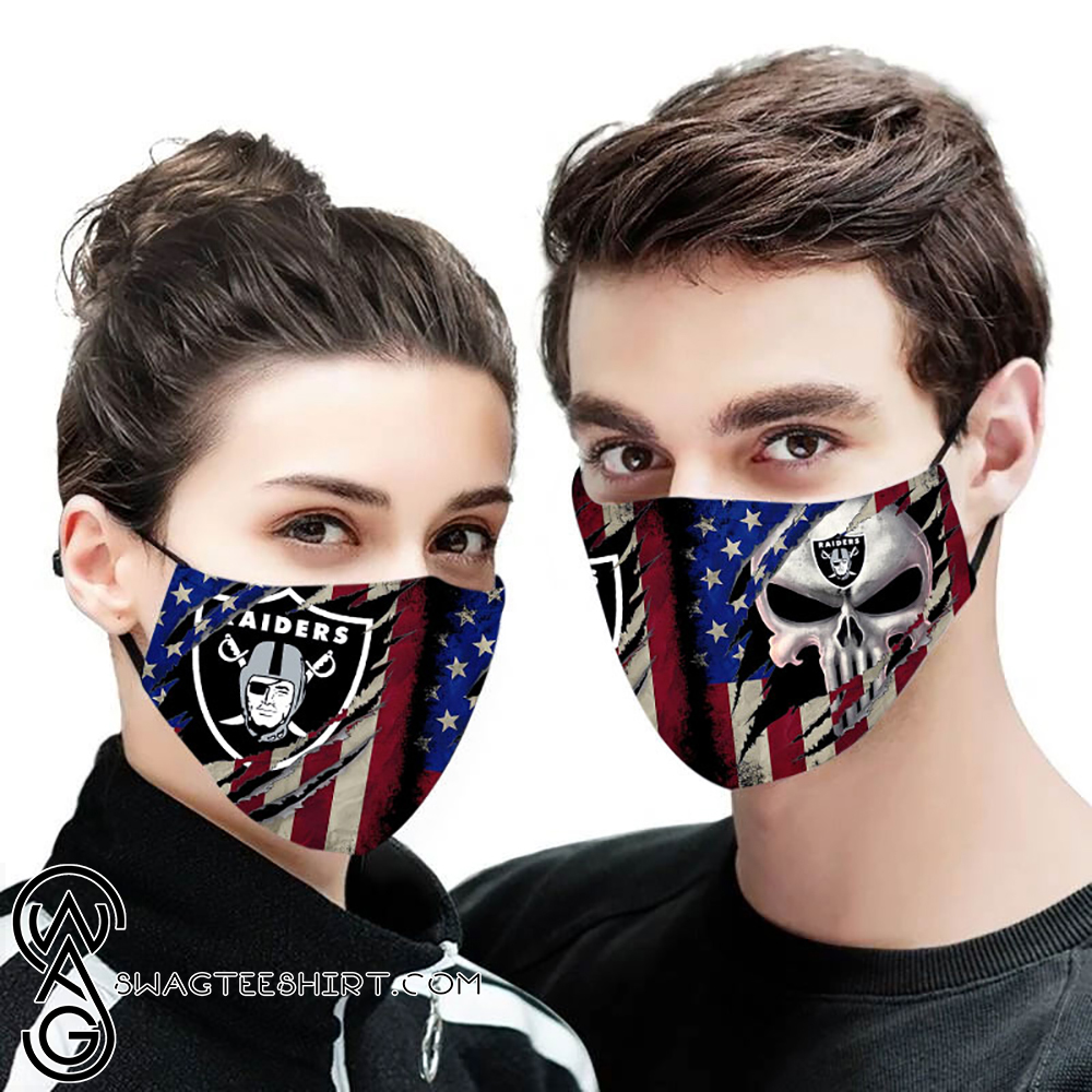 American flag oakland raiders all over printed face mask