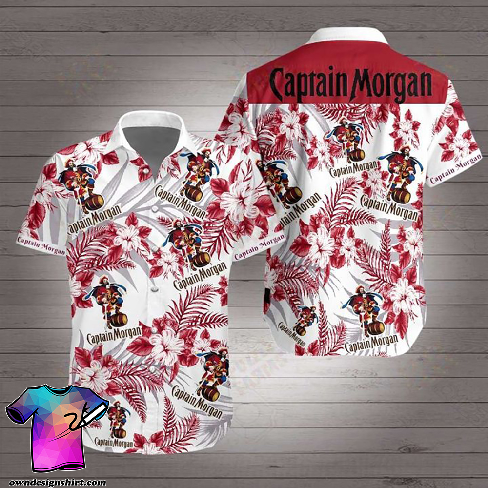 Captain morgan hawaiian shirt