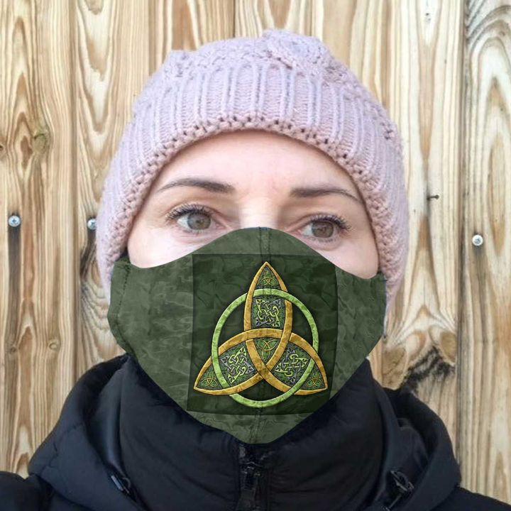 Celtic trinity knot anti-dust cotton face mask