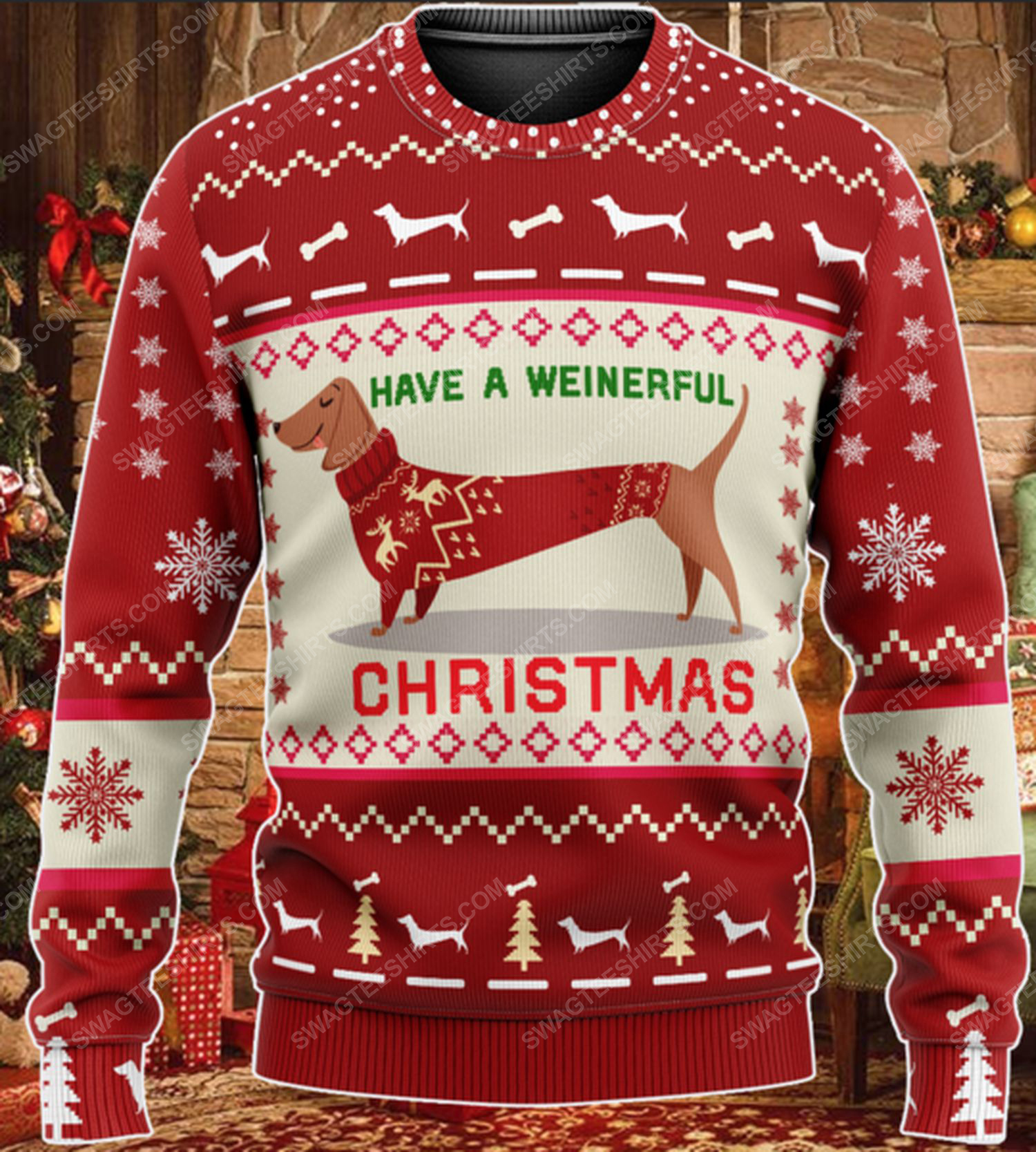 Dachshund have a weinerful christmas ugly christmas sweater