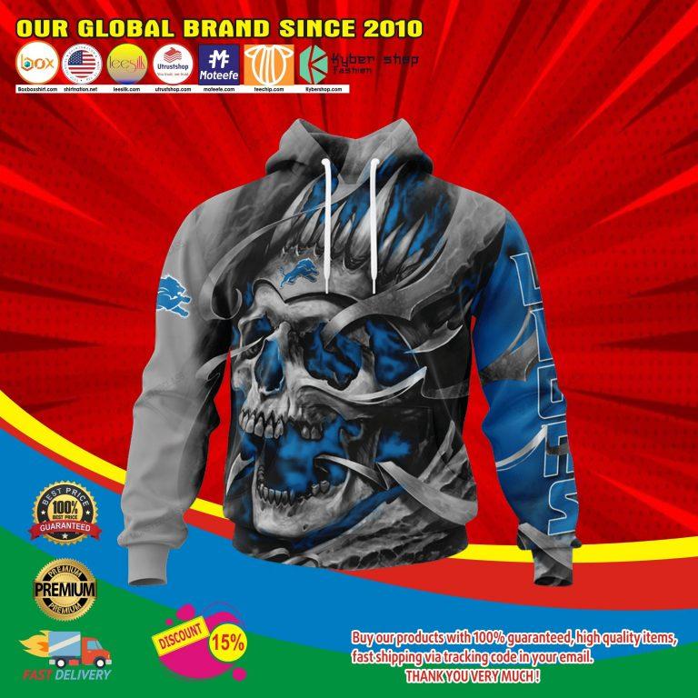 Detroit lions skull jersey hoodie4