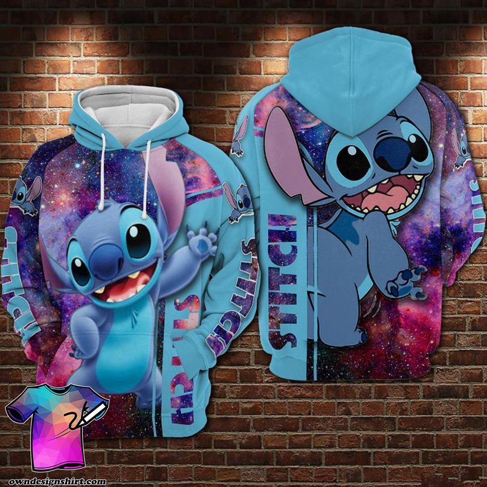 Disney stitch galaxy 3d hoodie
