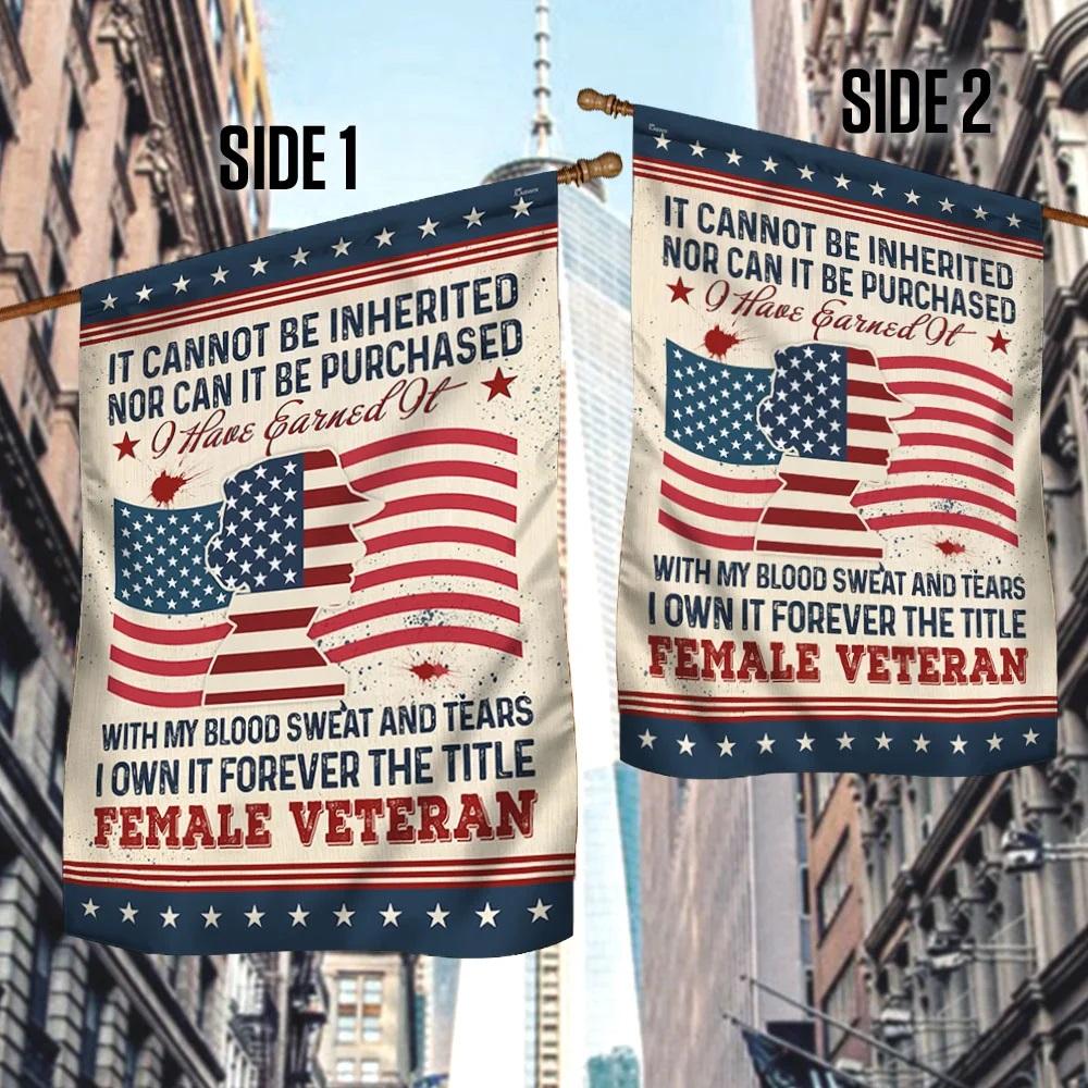 Forever The Title Female Veteran Flag