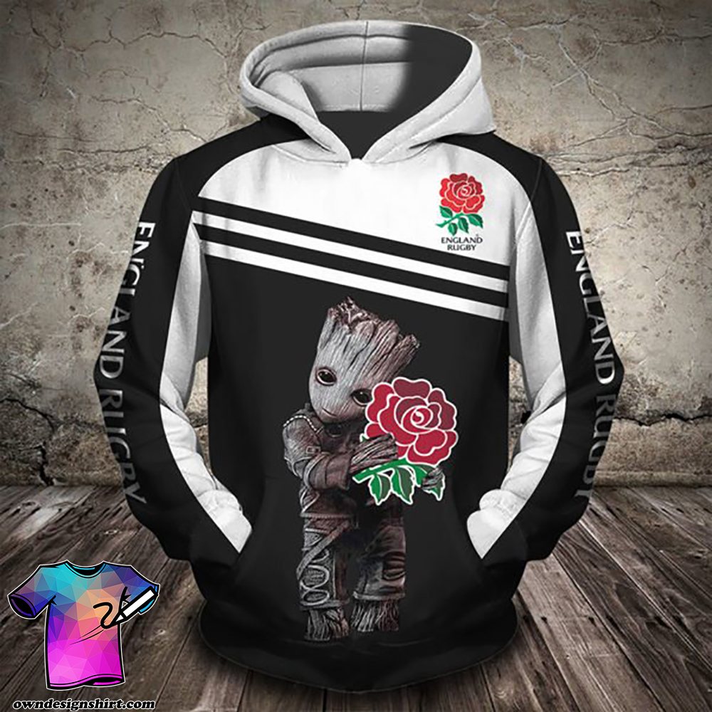 Groot hold england rugby full printing shirt