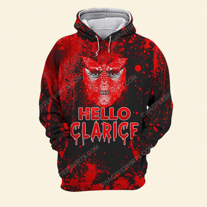 Halloween bloody silence of the lambs hello clarice shirt