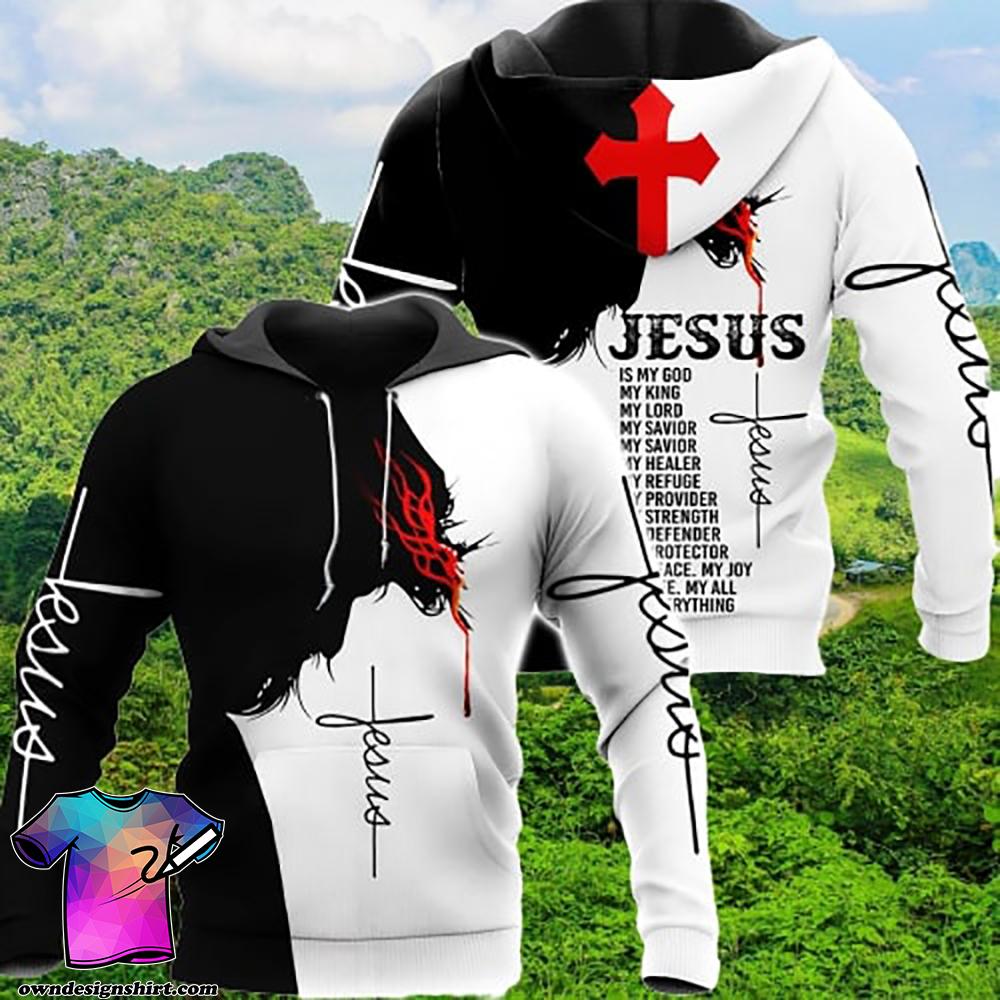 Jesus Is my god my king my lord full printing shirt