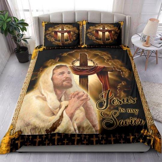 Jesus is my savior bedding set