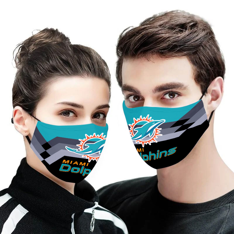 Miami dolphins full printing face mask