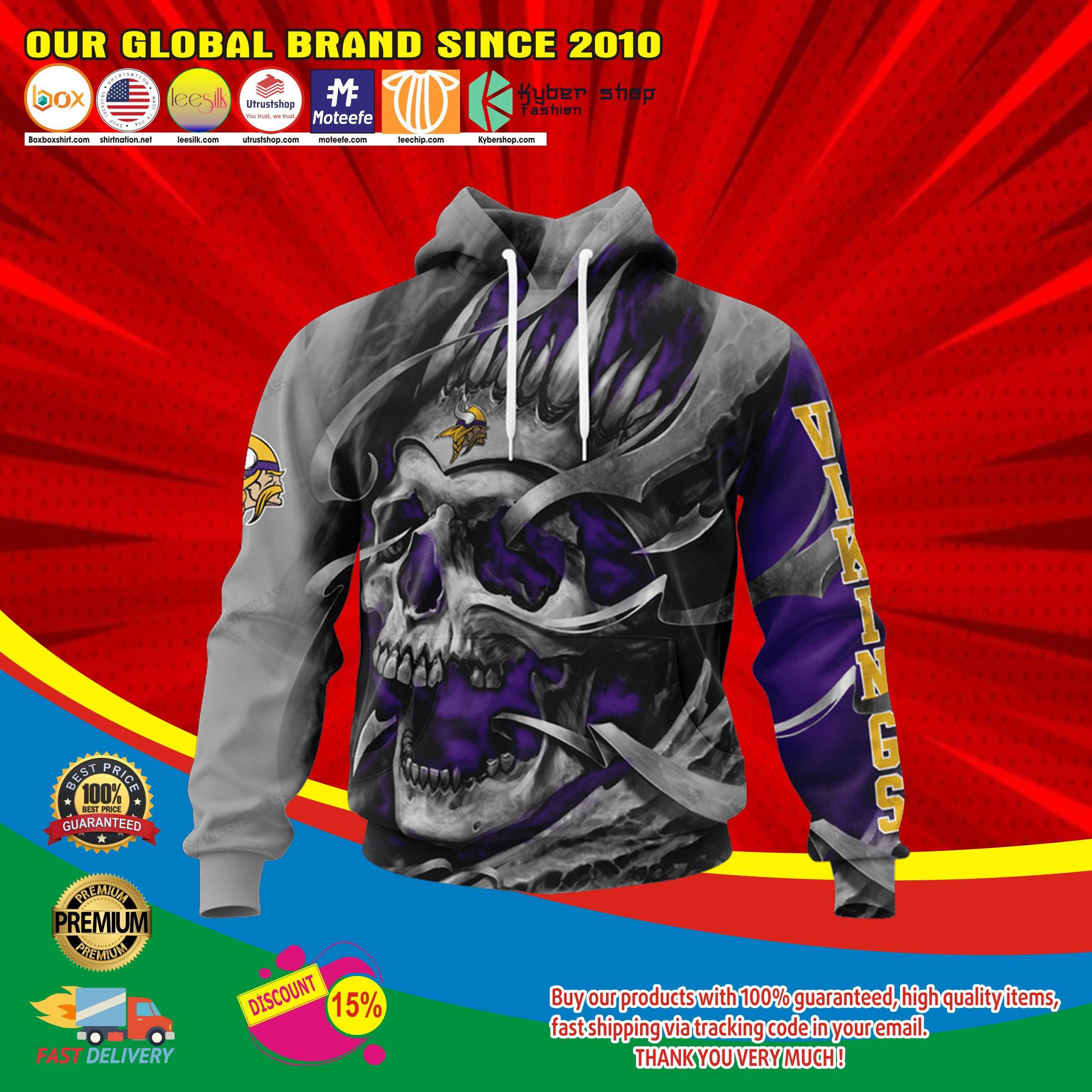 Minnesota viking skull jersey hoodie4