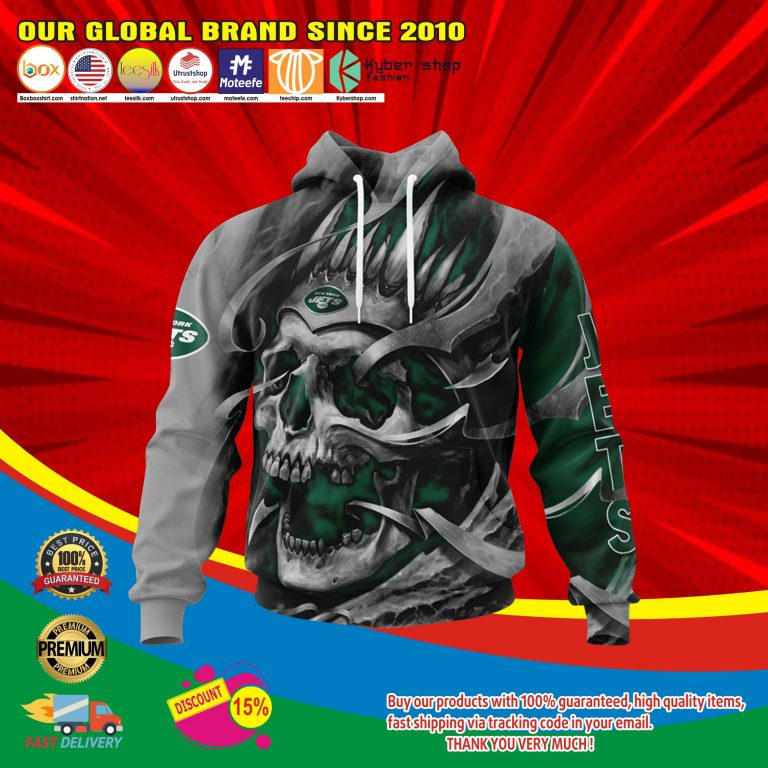 New york jets skull jersey hoodie4