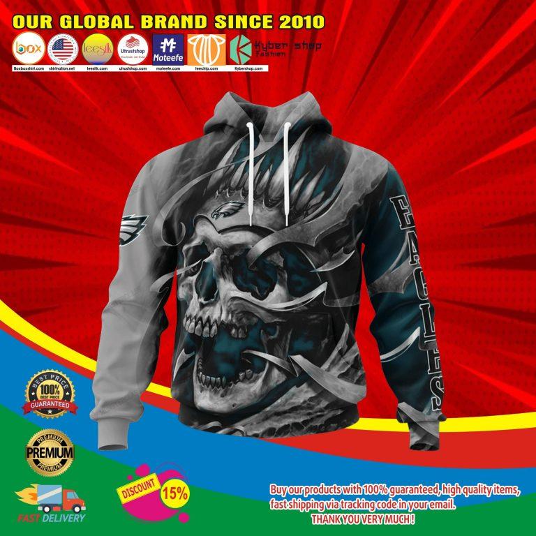Philadelphia eagless skull jersey hoodie4