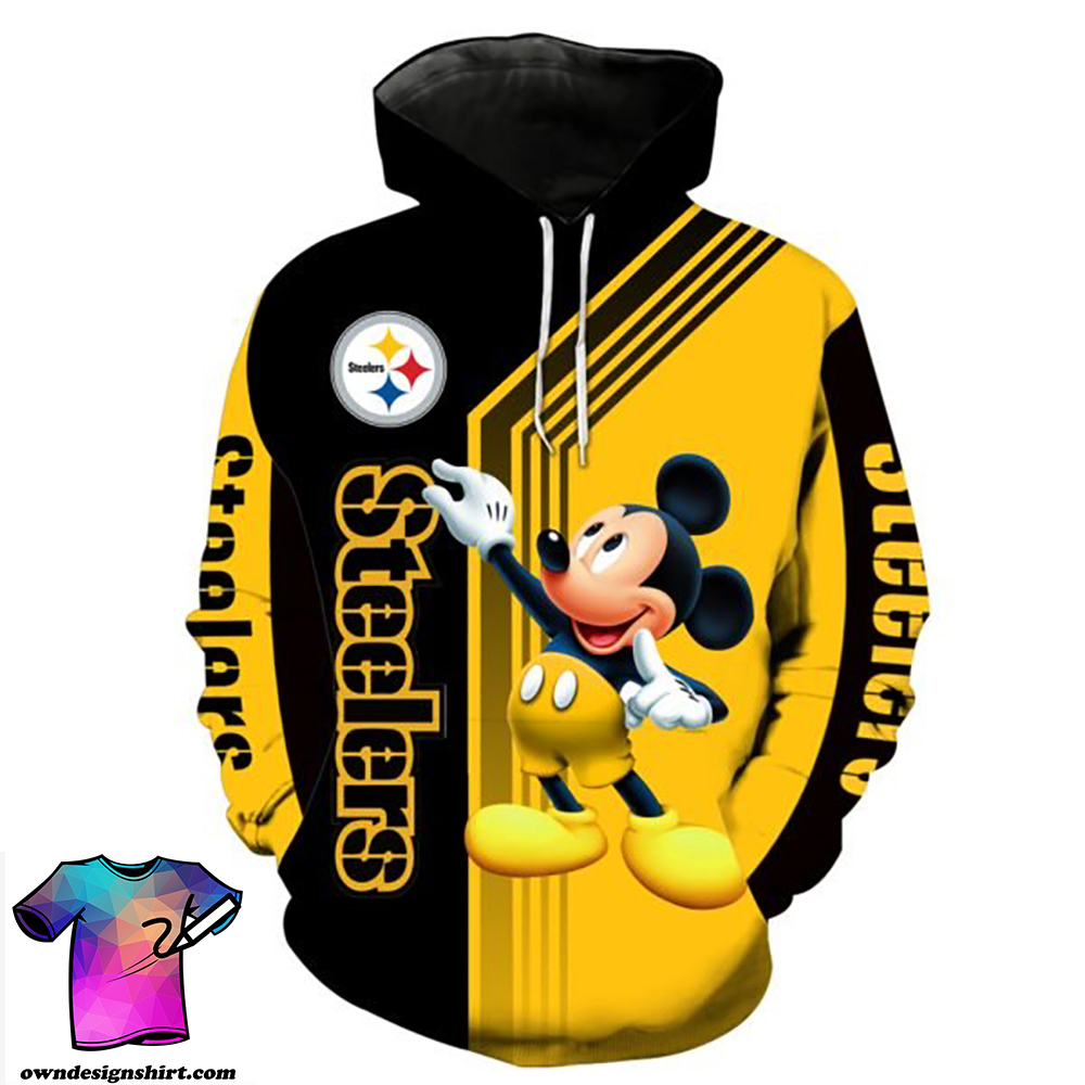 Pittsburgh steelers mickey mouse full printing shirt