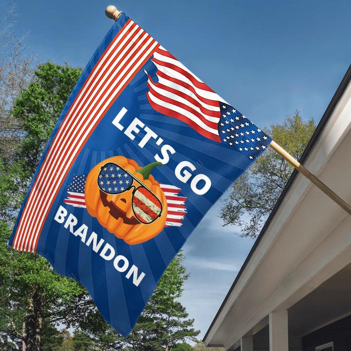 Pumpkin Let's go Brandon American flag