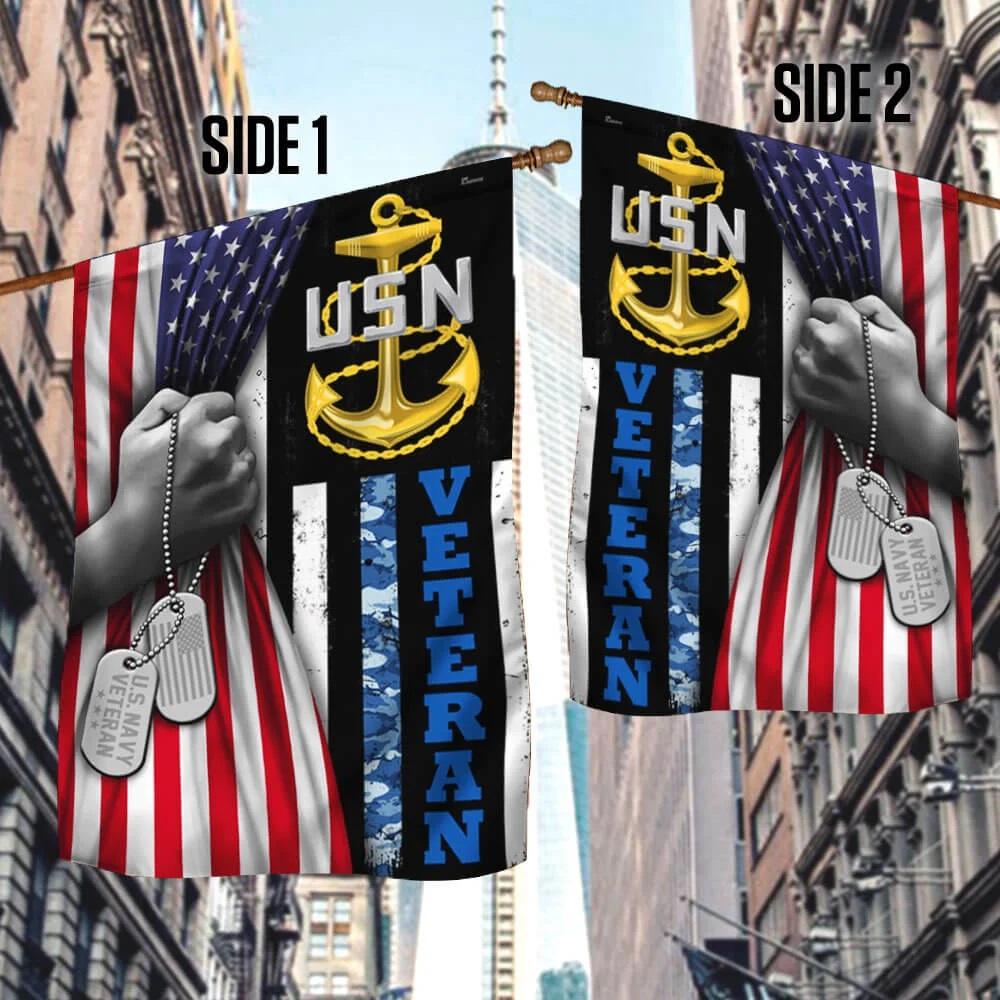 US Navy veteran american flag