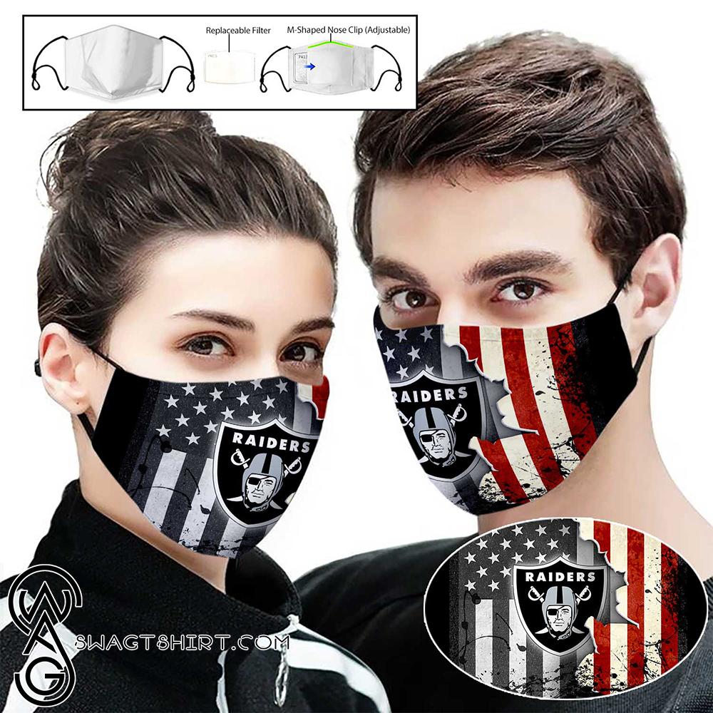 American flag oakland raiders full printing face mask